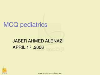 MCQ pediatrics