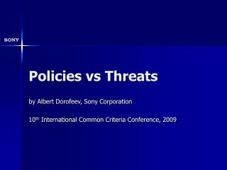 Policies vs Threats
