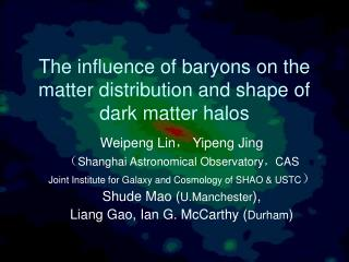 The influence of baryons on the matter distribution and shape of dark matter halos
