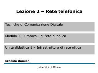 Comunicazione analogica (1)