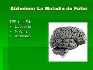 Alzheimer La Maladie du Futur