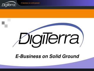 E-Business on Solid Ground