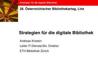 Strategien für die digitale Bibliothek