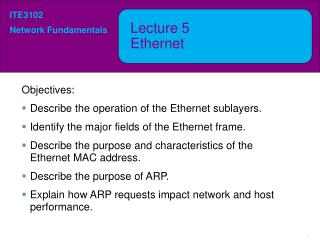 Lecture  5 Ethernet