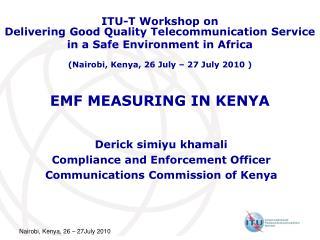 EMF MEASURING IN KENYA