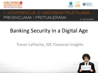 Banking Security in a Digital Age