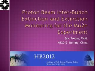 Proton	 Beam Inter -Bunch	Extinction	and Extinction Monitoring for the Mu2e Experiment