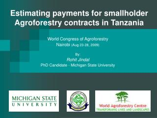 Estimating payments for smallholder Agroforestry contracts in Tanzania