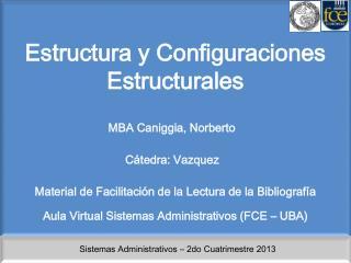 Estructura y Configuraciones Estructurales