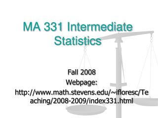 MA 331 Intermediate Statistics