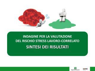 INDAGINE  PER LA VALUTAZIONE  DEL RISCHIO STRESS LAVORO-CORRELATO SINTESI DEI RISULTATI