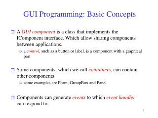 GUI Programming: Basic Concepts