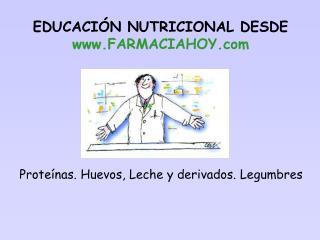Proteínas. Huevos, Leche y derivados. Legumbres