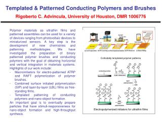 Colloidally templated polymer patterns