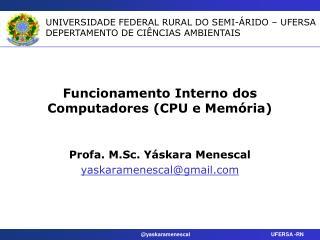 Funcionamento Interno dos Computadores (CPU e Mem�ria)