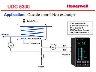 Application  :  Cascade control Heat exchanger