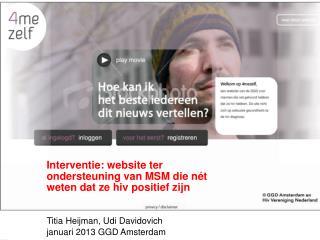 Titia Heijman, Udi Davidovich  Stuurgroep presentatie 1 November 2009