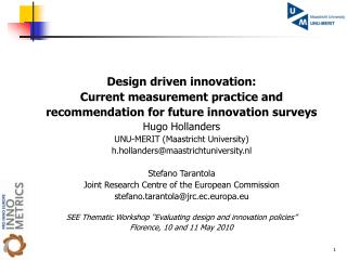Design driven innovation: Current measurement practice and