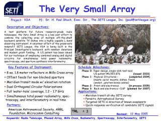 The Very Small Array