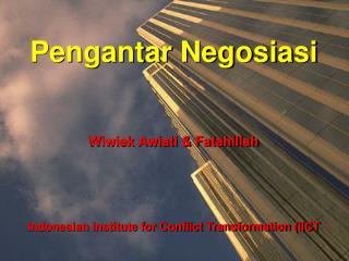 Pengantar Negosiasi
