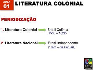 1. Literatura Colonial