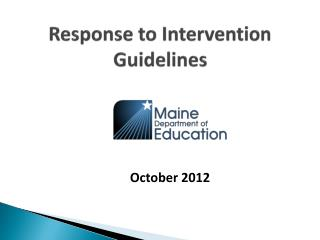 Response to Intervention  Guidelines