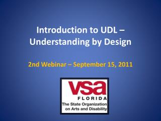 Introduction to UDL – Understanding by Design