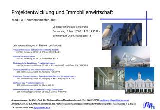 Projektentwicklung und Immobilienwirtschaft