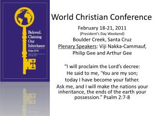 World Christian Conference