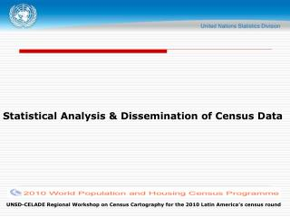 Statistical Analysis  Dissemination of Census Data