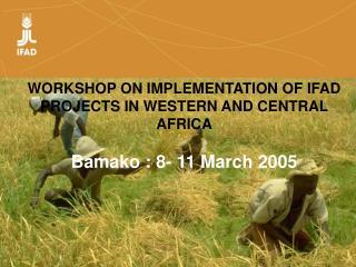 ATELIER SUR L EXECUTION DES PROJETS FIDA EN AFRIQUE DE L OUEST ET DU CENTRE    Bamako : 8- 11 Mars 2005