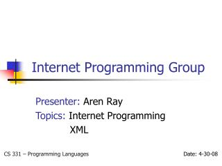 Internet Programming Group