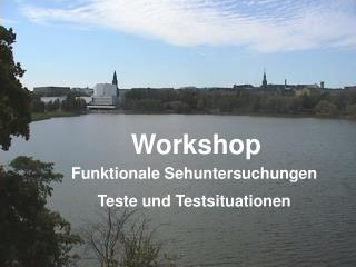 Workshop Funktionale Sehuntersuchungen Teste und Testsituationen