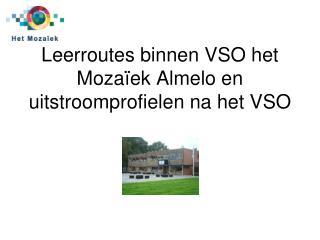 Leerroutes binnen VSO het Moza�ek Almelo en uitstroomprofielen na het VSO