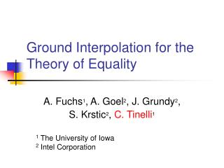 Ground Interpolation for the Theory of Equality