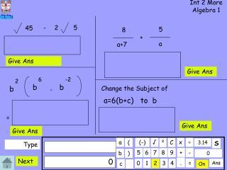 Int 2 More Algebra 1