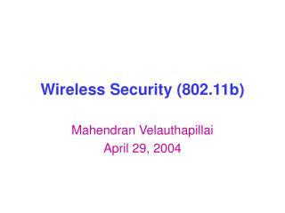 Wireless Security (802.11b)