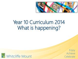 Year 10 Curriculum 2014 What is happening?