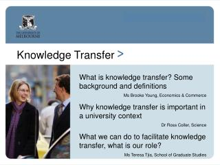 Knowledge Transfer >