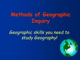 Geographic skills you need to study Geography!