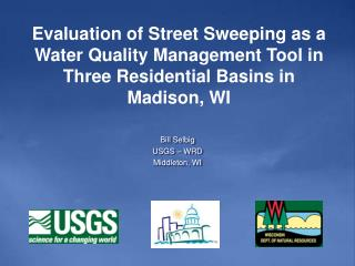 Bill Selbig USGS – WRD Middleton, WI