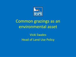 Common grazings as an environmental asset