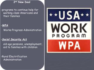 -programs to continue help for working class Americans and their families - WPA