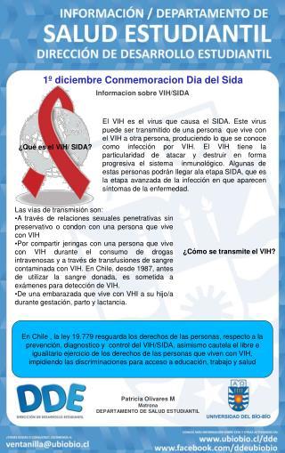 1º diciembre Conmemoracion Dia del Sida