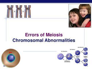 Errors of Meiosis Chromosomal Abnormalities