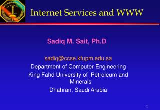Internet Services and WWW