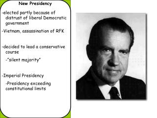 New Presidency
