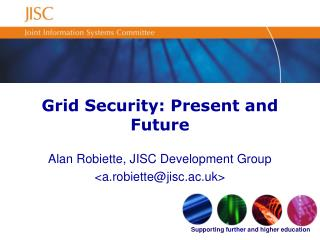Grid Security: Present and Future