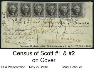 Census of Scott #1 & #2 on Cover