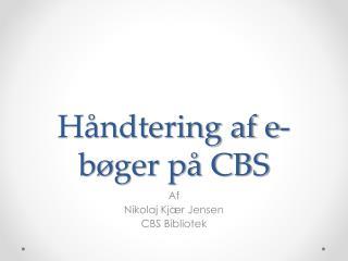 Håndtering af e-bøger på CBS